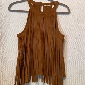 Soprano fringed tank top size medium